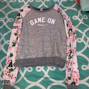 Adidas Neo Flowery Game On Crew Neck Sweatshirt